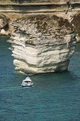 foto of u-boat  - Cliffs near the city of Bonifacio - JPG