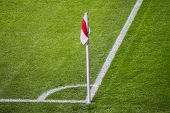Soccer or football corner flag