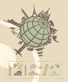 Landmarks around the World poster