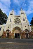 stock photo of guayaquil  - The Metropolitan Cathedral on the edge of the Parque Seminario  - JPG