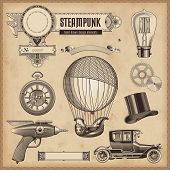 image of steampunk  - vector set - JPG