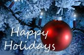 foto of happy holidays  - Christmas card with the words  - JPG