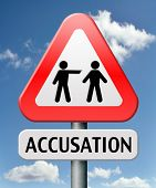 pic of not found  - accusation false or real by pointing finger charged or found guilty of a crime or not by judge - JPG