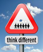 think different outside the box individual thoughts individuality and own will non conformist