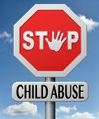 stock photo of pedophile  - stop child abuse prevention from domestic violence and neglection end abusing children - JPG