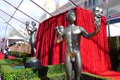 LOS ANGELES - JAN 27: Atmosphere, Statue  at the 19th Annual Screen Actors Guild Awards held at The
