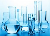 stock photo of reagent  - chemical laboratory glassware - JPG
