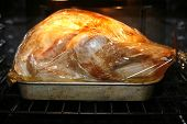 A Golden Turkey Cooking In The Oven poster