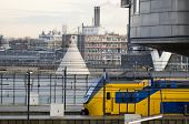 pic of ijs  - Dutch train is near Amsterdam railway station - JPG