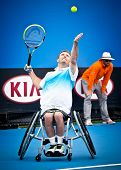 MELBOURNE - JANUARY 26: David Wagner wins the Quad Wheelchair Singles title over Andrew Lapthorne of