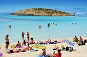 FORMENTERA, SPAIN - SEPTEMBER 18: Ses Illetes Beach on September 18, 2012 in Formentera, Balearic Is
