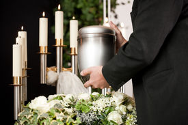 image of urn funeral  - death and dolor   - JPG