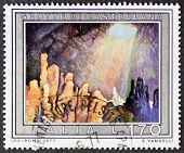 ITALY - CIRCA 1977: a stamp printed in Italy shows image of Castellana caves, near Bari, Apulia regi