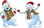 picture of holly  - Vector illustration of snowman  Snowman - JPG
