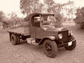 OLD TRUCK IN SEPIA
