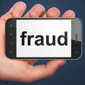 Safety concept: Fraud on smartphone