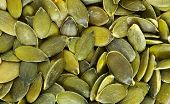 stock photo of mixture  - Close up of the pumpkin seeds - JPG