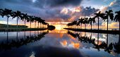 pic of florida-orange  - Sunrise over Cutler Bay near Miami - JPG