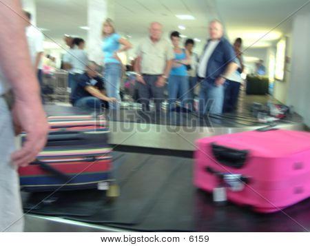 Luggage On Conveyor poster