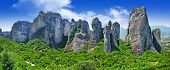 image of hermit  - Meteora rocks - JPG