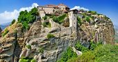 stock photo of hermit  - Meteora monasteries - JPG