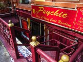 image of occult  - A psychic reading store fron t in Manhattan - JPG