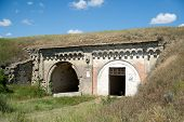 pic of azov  - Ruins ancient old securely fastened and hidden military fort - JPG