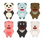 picture of kawaii  - Funny kawaii different bears set - JPG