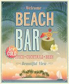 picture of tiki  - Vintage Beach Bar poster - JPG