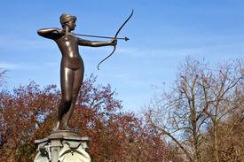 foto of artemis  - The beautiful sculpture on the Artemis Fountain in Hyde Park London - JPG