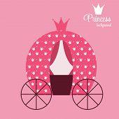 stock photo of princess crown  - Pink Princess Crown  Background Vector Illustration - JPG