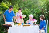 stock photo of grandmother  - Happy big family  - JPG