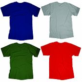 pic of t-shirt red  - Wrinkled blank t - JPG