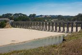 foto of mendocino  - A panoramic view of the Pudding Creek Trestle in Fort Bragg, California