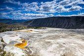 stock photo of mammoth  - Mammoth Hot Springs Yin nature daytime Wyoming USA - JPG