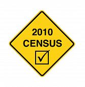 Road Sign - 2010 Census