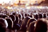 picture of watch  - Large crowd of people watching concert or sport event - JPG