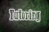image of tutor  - Tutoring Concept text on background sign idea - JPG