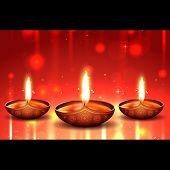 image of diya  - Vector diwali diya background - JPG