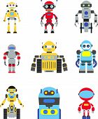 stock photo of robotics  - Abstract robots set isolated on white background - JPG