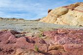 image of valley fire  - sandstone desert landscape in Valley of Fire State Park in Nevada - JPG