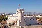 image of emirates  - Historic Kalba fort in the Emirate of Fujairah United Arab Emirates - JPG