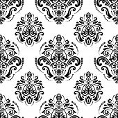 pic of damask  - Damask  floral pattern with arabesque and oriental elements - JPG