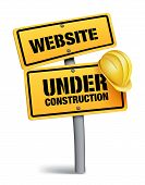 foto of safety barrier  - Website Under Construction Sign in White Background - JPG
