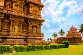 stock photo of tamil  - part of complex architecture Hindu Temple ancient Gangaikonda Cholapuram Temple India Tamil Nadu Thanjavur (Trichy)