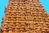 picture of trichy  - great architecture of Hindu Temple element entrance gate bas - JPG
