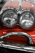 foto of headlight  - Color detail on the headlight of a vintage car - JPG
