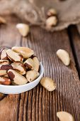 foto of brazil nut  - Portion of healthy Brazil Nuts as detailed close - JPG
