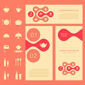 foto of recipe card  - vector restaurant menu card - JPG