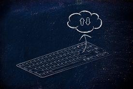 image of qwerty  - computer keyboard  - JPG
